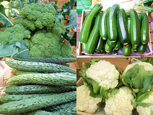 店頭に着いたときの野菜たち